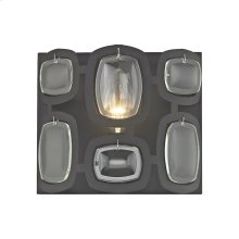 Monserrat 1-Light Vanity Sconce in Oil Rubbed Bronze with Clear Glass