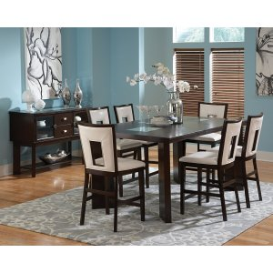 "Steve Silver Co.Delano Counter Table, 44""x60""x 78""x w/ 18"" Leaf"
