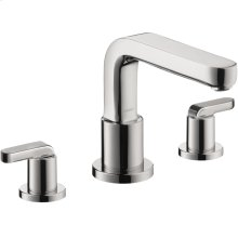 Chrome 3-Hole Roman Tub Set Trim with Lever Handles