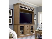 Entertainment Console with Hutch - Oatmeal