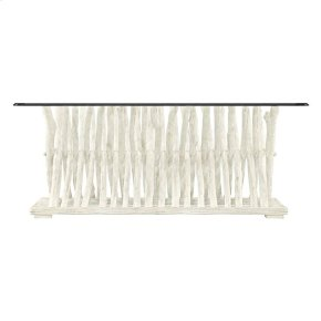 Coastal Living Resort Driftwood Flats Cocktail Table in Nautical White