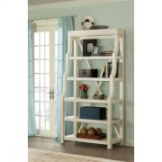 Aberdeen - Open Display Cabinet - Weathered Worn White Finish Product Image