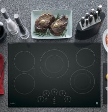 "GE Profile 30"" Electric Cooktop with Built-In Touch Control"