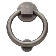 Distressed Antique Nickel Ring Knocker