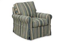 Sunset Trading Horizon Slipcovered Swivel Chair in Nantucket Stripe