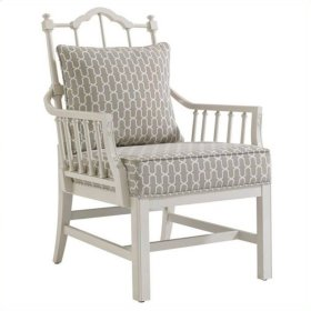 Charleston Regency - Chippendale Planter's Chair In Ropemaker's White