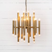 Brushed Brass Finish Vivienne Chandelier