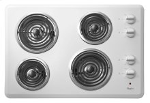 """30"""" Electric Cooktop with Dishwasher-Safe Knobs"""