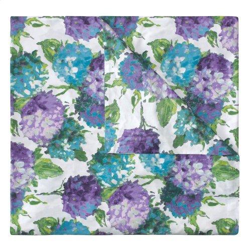 Hydrangea Duvet Cover & Shams, BLUE, KG