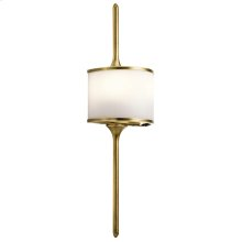 Mona Collection Mona 2 Light Halogen Wall Sconce in NBR