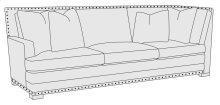 Cantor Left Arm Return Sofa in Molasses (780)