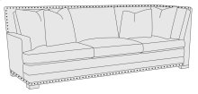 Cantor Left Arm Return Sofa in Molasses (780)