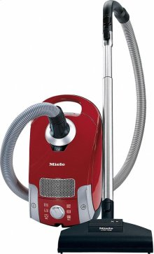 Compact C1 HomeCare PowerLine - SCAE0 canister vacuum cleaners with turbo floorhead for thorough cleaning of hard floors, low-pile carpeting.