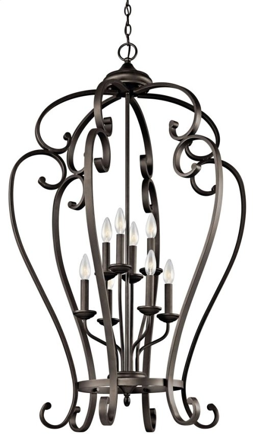 Monroe 8 Light Foyer Cage Pendant Olde Bronze®