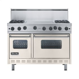 "Oyster Gray 48"" Open Burner Range - VGIC (48"" wide, four burners 24"" wide griddle/simmer plate)"