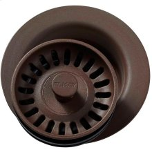 """Elkay Polymer 3-1/2"""" Disposer Flange with Removable Basket Strainer and Rubber Stopper Pecan"""
