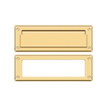"""Mail Slot 8 7/8"""" with Interior Frame - PVD Polished Brass"""