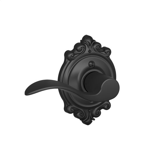 Accent Lever with Brookshire trim Non-turning Lock - Matte Black