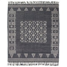 9'x12' Size Navy Flatweave Patterned Rug