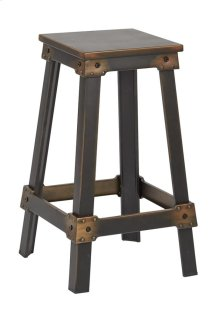 "New Castle 26"" Antique Copper Metal Barstool, Kd"