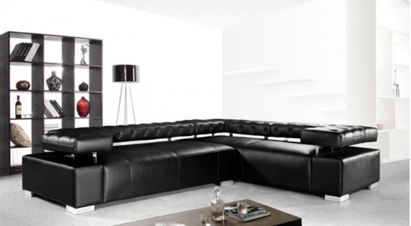 Divani Casa Disco Modern Leather Sectional Sofa