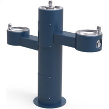 Elkay Outdoor Fountain Tri-Level Pedestal Non-Filtered, Non-Refrigerated Blue