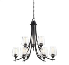 Octave 9 Light Black Chandelier