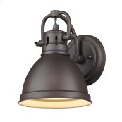 Duncan 1 Light Bath Vanity in Rubbed Bronze with a Rubbed Bronze Shade