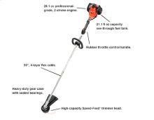 SRM-280 String Trimmer, Weed Trimmer, Most Powerful Straight Shaft -