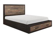 Queen Platform Bed with Footboard Storage