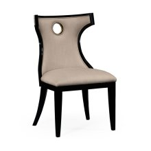 Greek Revival Biedermeier Black Side Chair