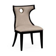 Greek Revival Biedermeier Black Side Chair