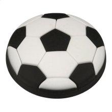 Kids Black Soccer Ball Cabinet Knob