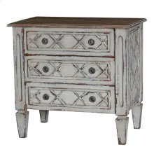 Dauphine three drawer nightstand
