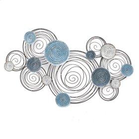Blue/silver Circles Wall Sculpture, Wb