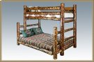 Glacier Country Log Twin over Full Bunk Bed Product Image