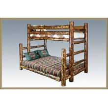 Glacier Country Log Twin over Full Bunk Bed