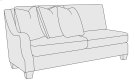 Larson Left Arm Loveseat in Mocha (751) Product Image