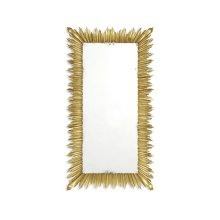 Gilded Floor Standing Rectangular Sunburst Mirror
