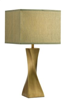 1 Light Table Lamp with Metal Resin Body & Antique Bronze Finish