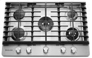 30'' 5-Burner Gas Cooktop with Griddle - Stainless Steel Product Image