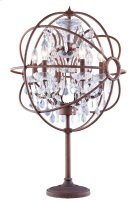 "1130 Geneva Collection Table Lamp D:22"" H:34"" Lt:6 Rustic Intent Finish (Royal Cut Crystals) Product Image"
