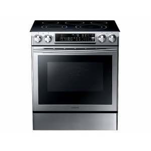 Samsung5.8 cu. ft. Slide-in Electric Range with Dual Convection in Stainless Steel