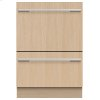 Fisher & Paykel Integrated Double Dishdrawer Dishwasher, Tall, Sanitize