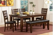 """Ameillia 6 Pc. Set Dining Table 4 Side Chairs And 48"""" Bench"""