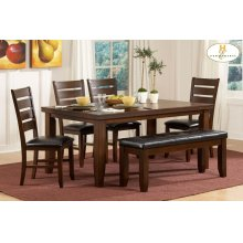 "Ameillia 6 Pc. Set Dining Table 4 Side Chairs And 48"" Bench"