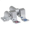 Floor-Mounted Double Pedal Valve - Polished Chrome
