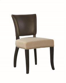 Leather and Linen Side Chair Product Image