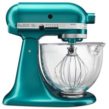 Artisan® Design Series 5 Quart Tilt-Head Stand Mixer with Glass Bowl - Sea Glass