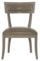 Delancey Leather Dining Side Chair in Smoke Product Image